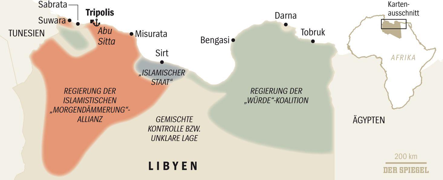 SPIEGEL 16/2016 S. 88 Karte Libyen