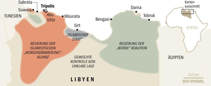 Libyen: Ein Land, drei Machtzentren
