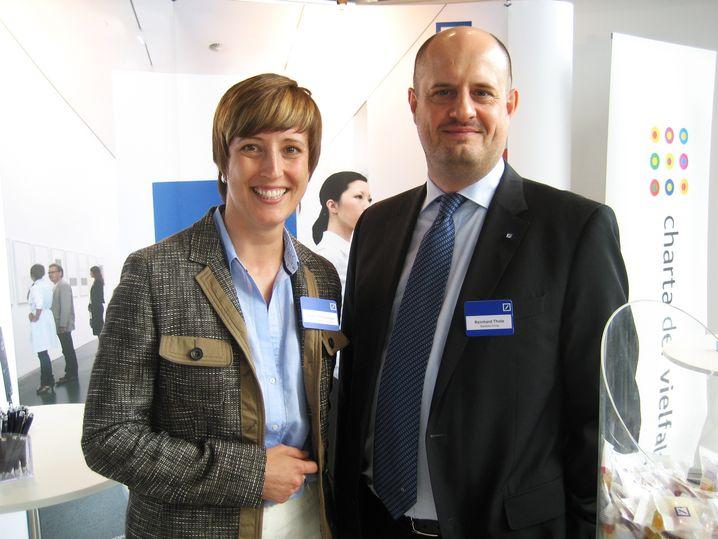 Deutsche-Bank-Vertreter Kerstin Pramberger und Reinhard Thole