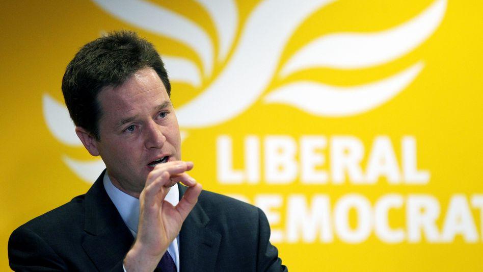 Nick Clegg von den Liberaldemokraten: Plötzlich ein gefragter Mann