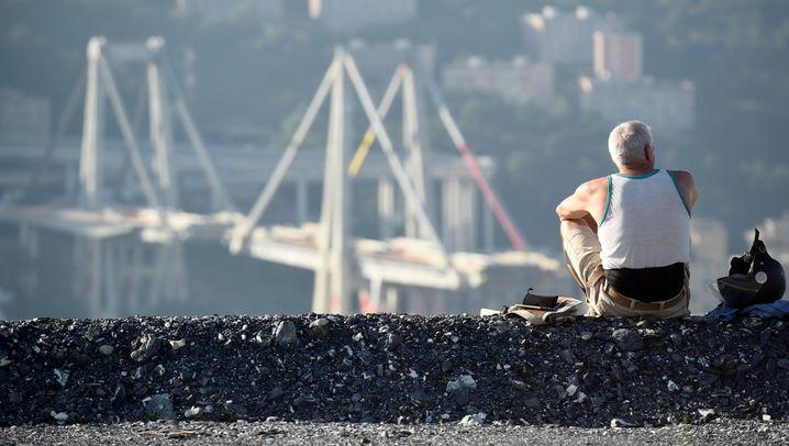 Sprengung der Morandi-Brücke: Tausende Kubikmeter Stahl und Beton
