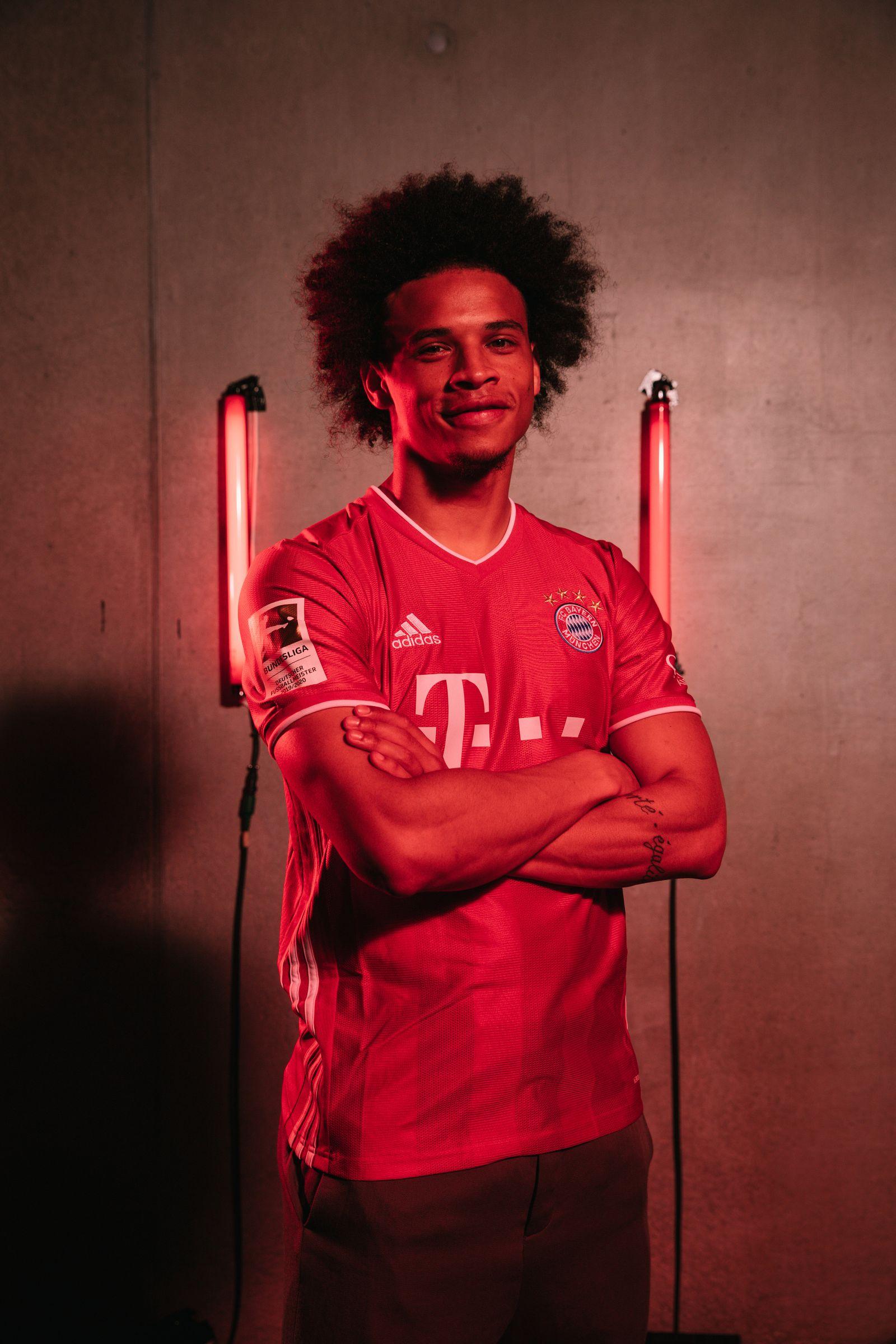 FC Bayern Muenchen Unveils Newly Signed Leroy Sane