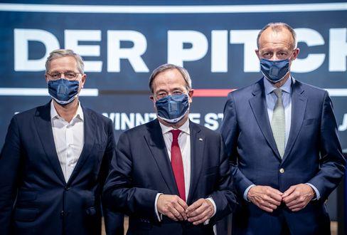 Die drei Kandidaten für den CDU-Parteivorsitz: Norbert Röttgen, Armin Laschet, Friedrich Merz
