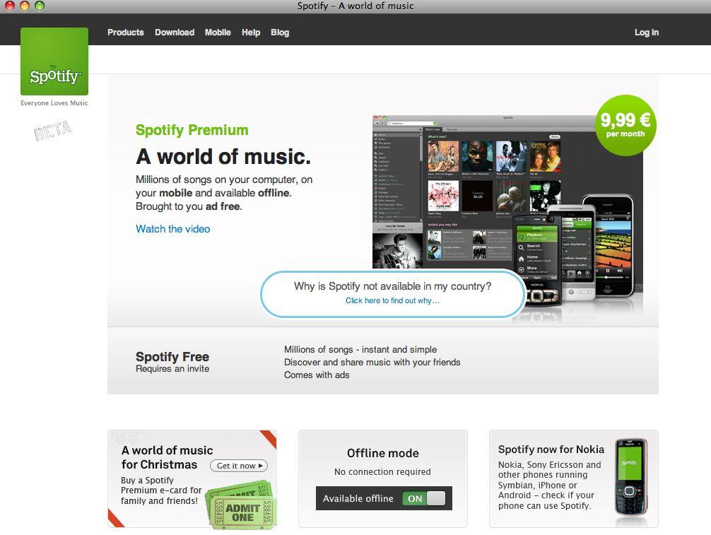 Screenshot Spotify.com / Musikindustrie