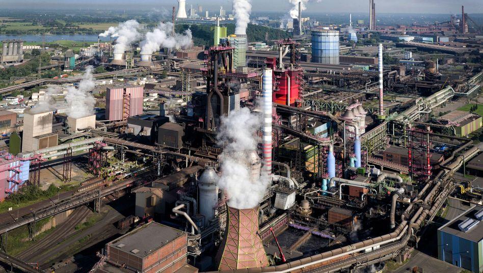 Stahlwerk in Duisburg (Archivbild)