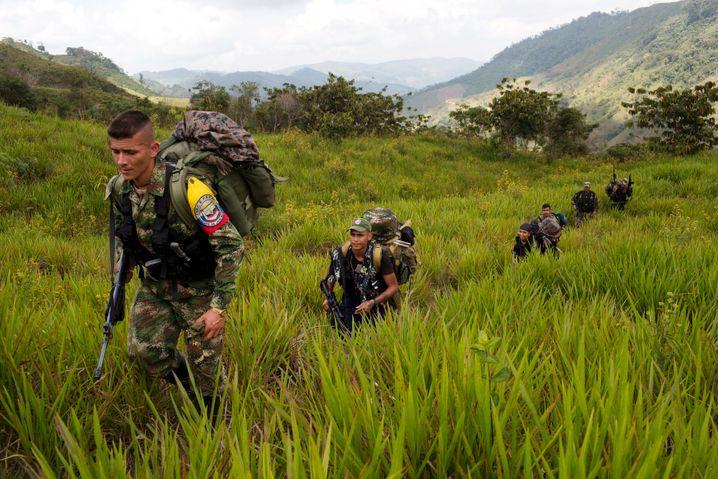 Farc-Mitglieder im Nordwesten Kolumbiens (Archivbild von Januar 2016): »Es herrscht immer noch Misstrauen zwischen den Bauern und den Ex-Kämpfern«