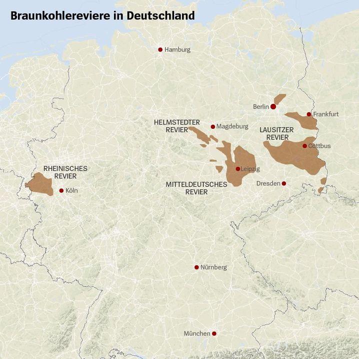 braunkohlegebiete in deutschland karte Einigung der Kommission: Kohleausstieg bis spätestens 2038   DER