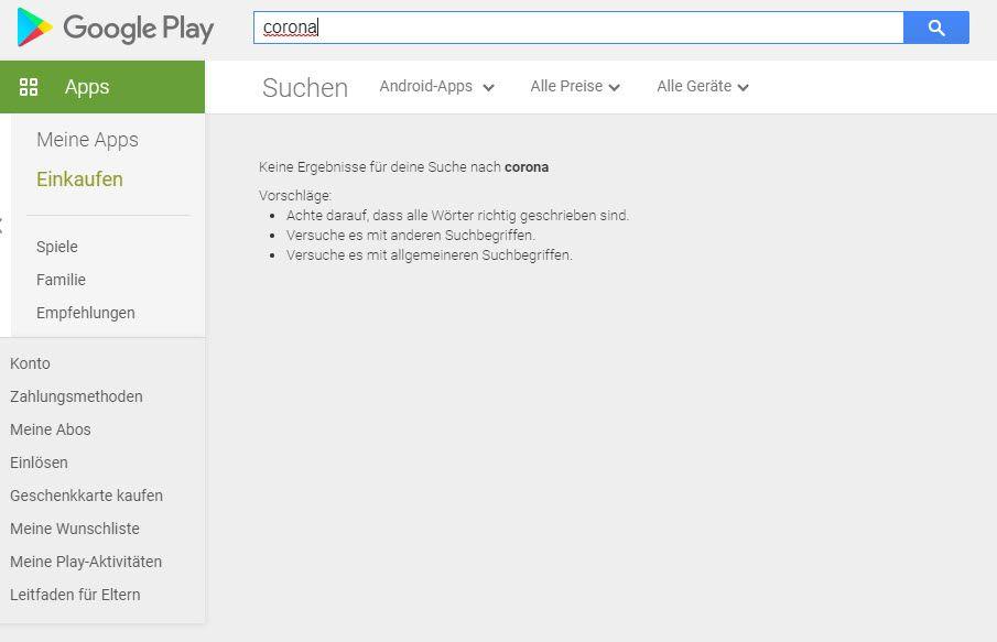 Google Play Store. / Screenshot