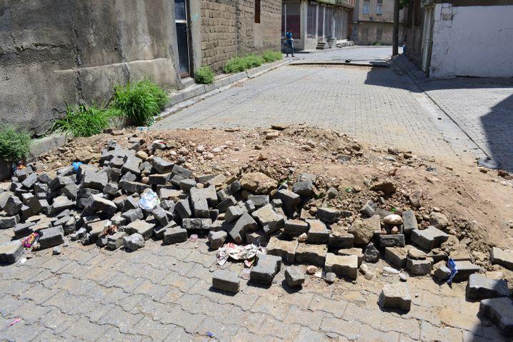 Kaputte Straßen in Cizre: Spuren der Nacht
