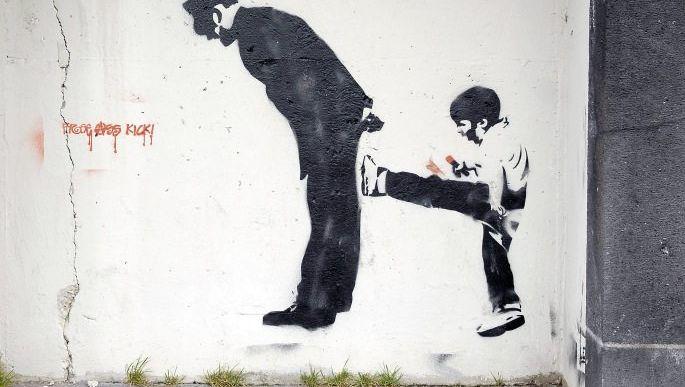 Graffito in Düsseldorf