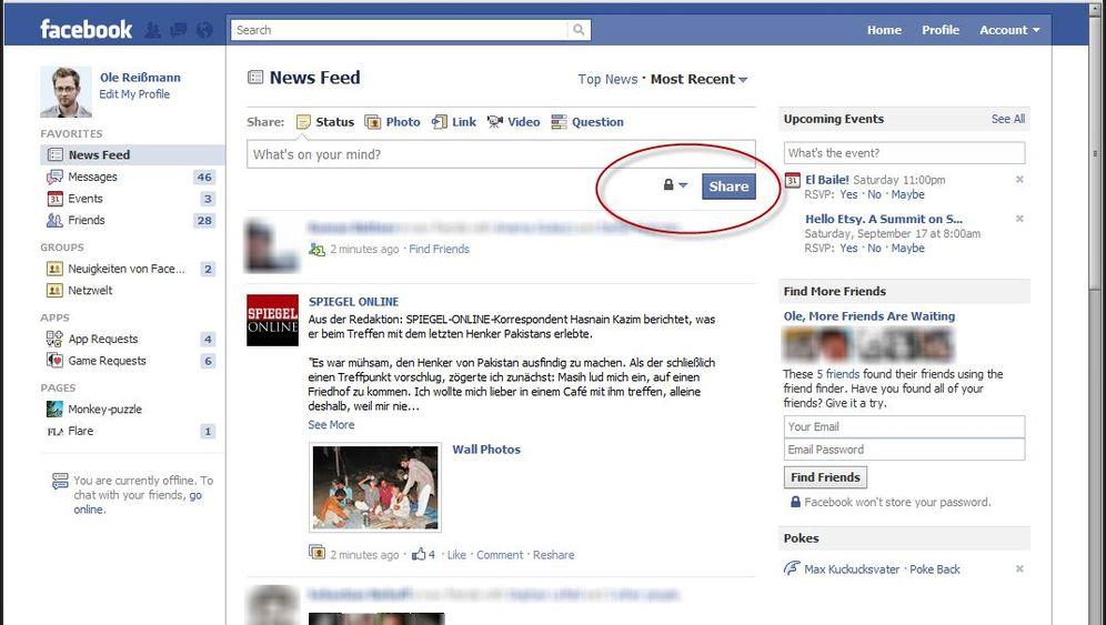 Facebook: Neue Buttons für mehr Kontrolle