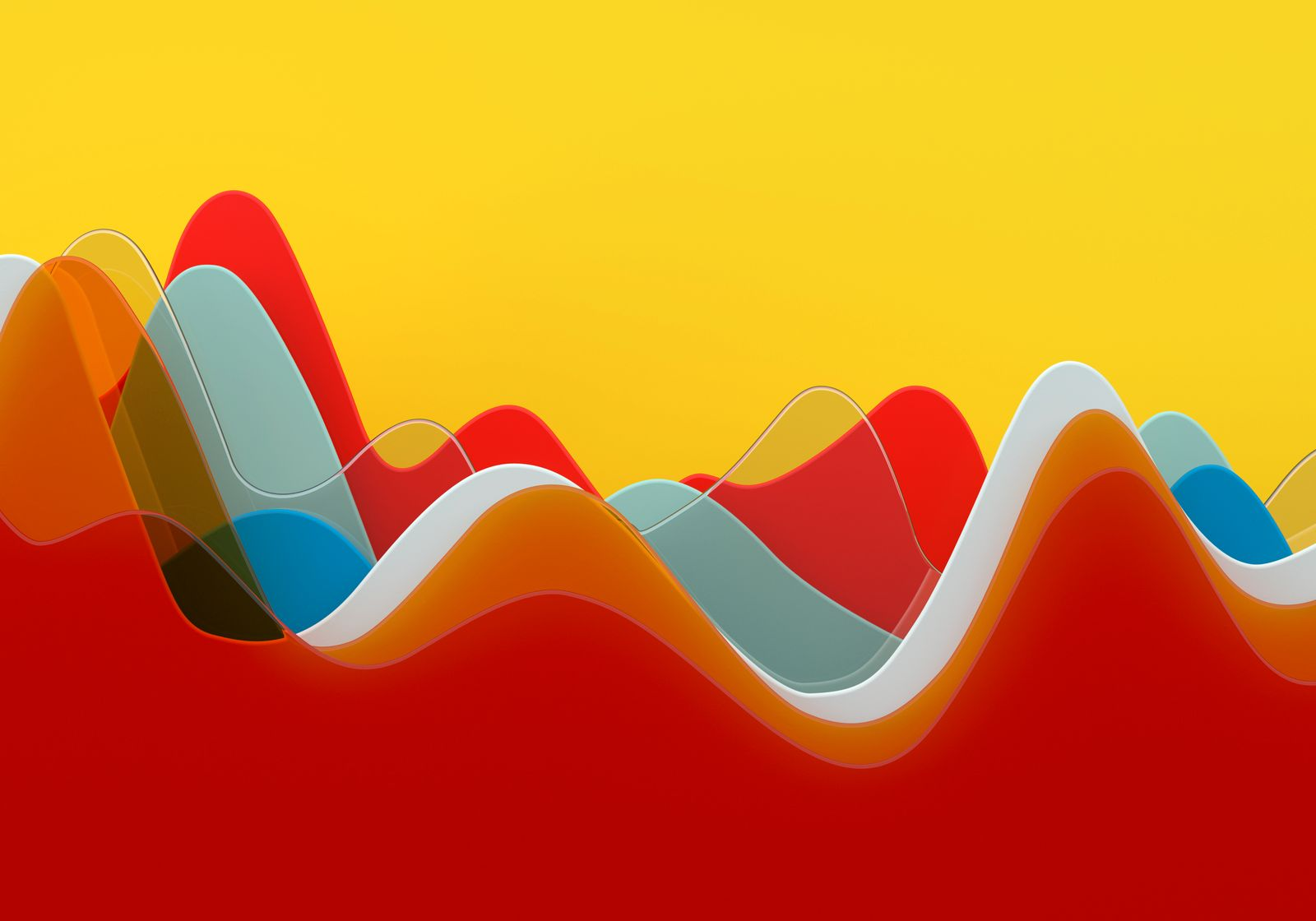 Abstract multi colored curve chart