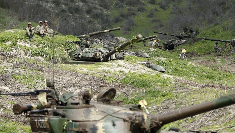 Panzer bei Bergkarabach