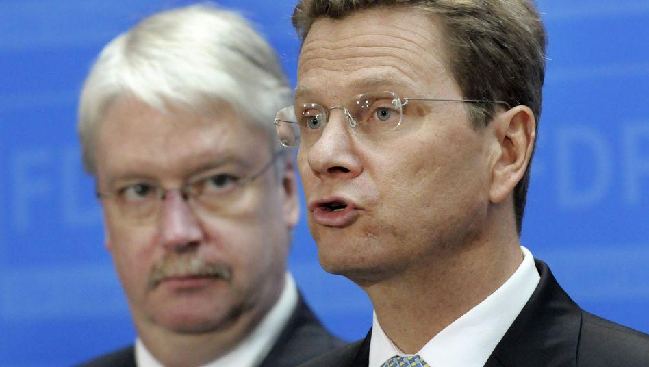 """FDP-Politiker Hahn, Westerwelle (im Jahr 2008): """"Das war ein Fehler"""""""