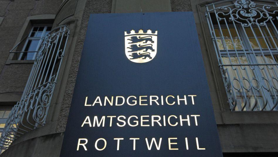 Gerichtsgebäude in Rottweil: Prozessauftakt gegen angeklagte Mutter