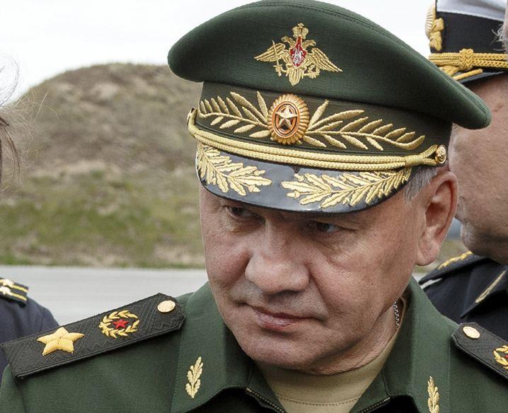 Verteidigungsminister Schoigu auf dem Marinestützpunkt in Seweromorsk nahe Murmansk