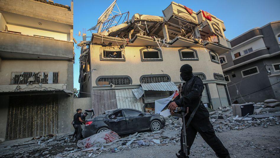 Das Haus von Baha Abu al-Ata im Gazastreifen nach dem israelischen Angriff