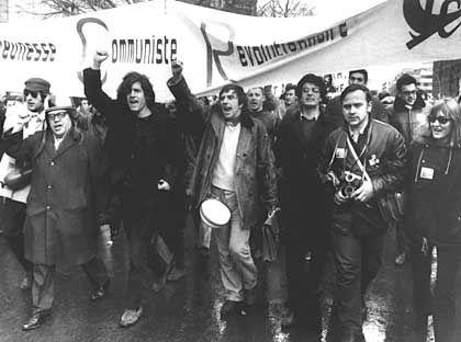 """Demo gegen den Vietnam-Krieg, 1968 (in der Mitte Dutschke): """"Unantastbare Ikone der 68er-Bewegung"""""""