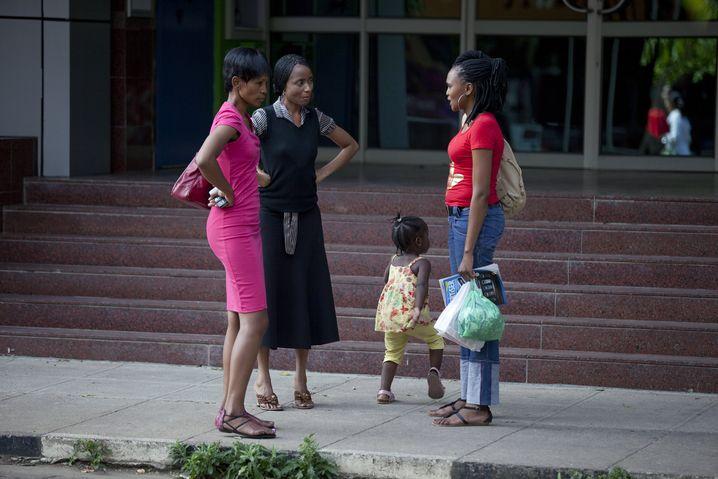 Straßenszene in Gaborone: Der Lebensstandard in Botswana ist relativ hoch (Archivbild)