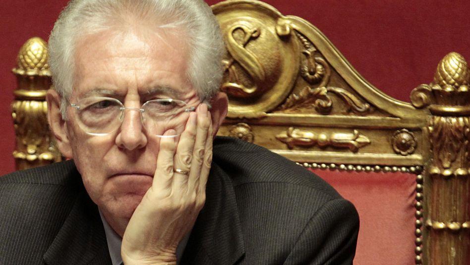 Italienischer Premier Monti: Die ersten Bewährungsproben des Jahres stehen an