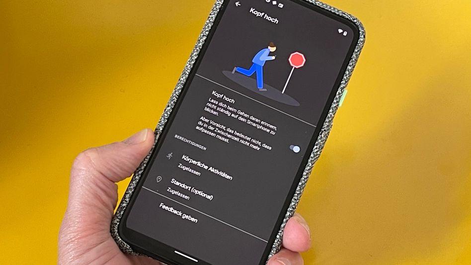 Android-Funktion »Kopf hoch«: Bisher nur in einer Betaversion verfügbar