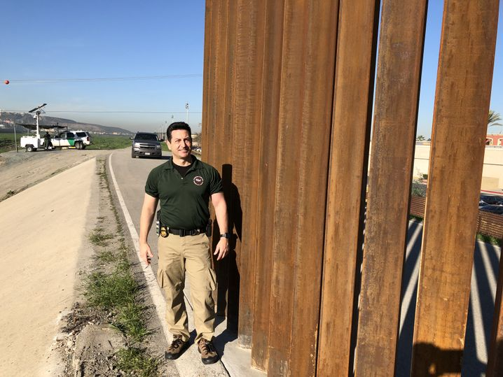 Grenzschützer Joshua Wilson in San Ysidro