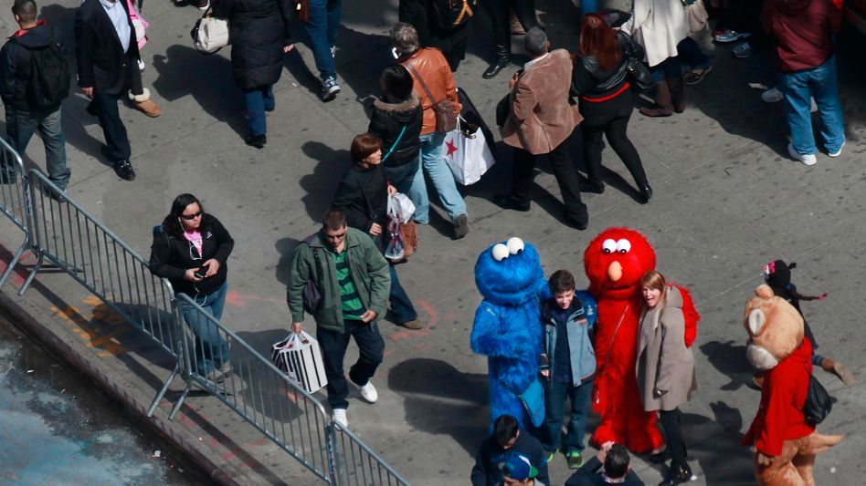 Sesamstraßen-Figuren am Times Square: Ärger für das Krümelmonster