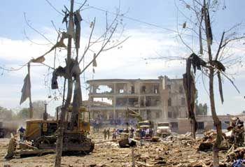 """Russisches Militärhospital in Mosdok, auf das im August 2003 ein Selbstmordattentat verübt wurde: """"Man wusste nie, wer Freund und wer Feind war"""""""