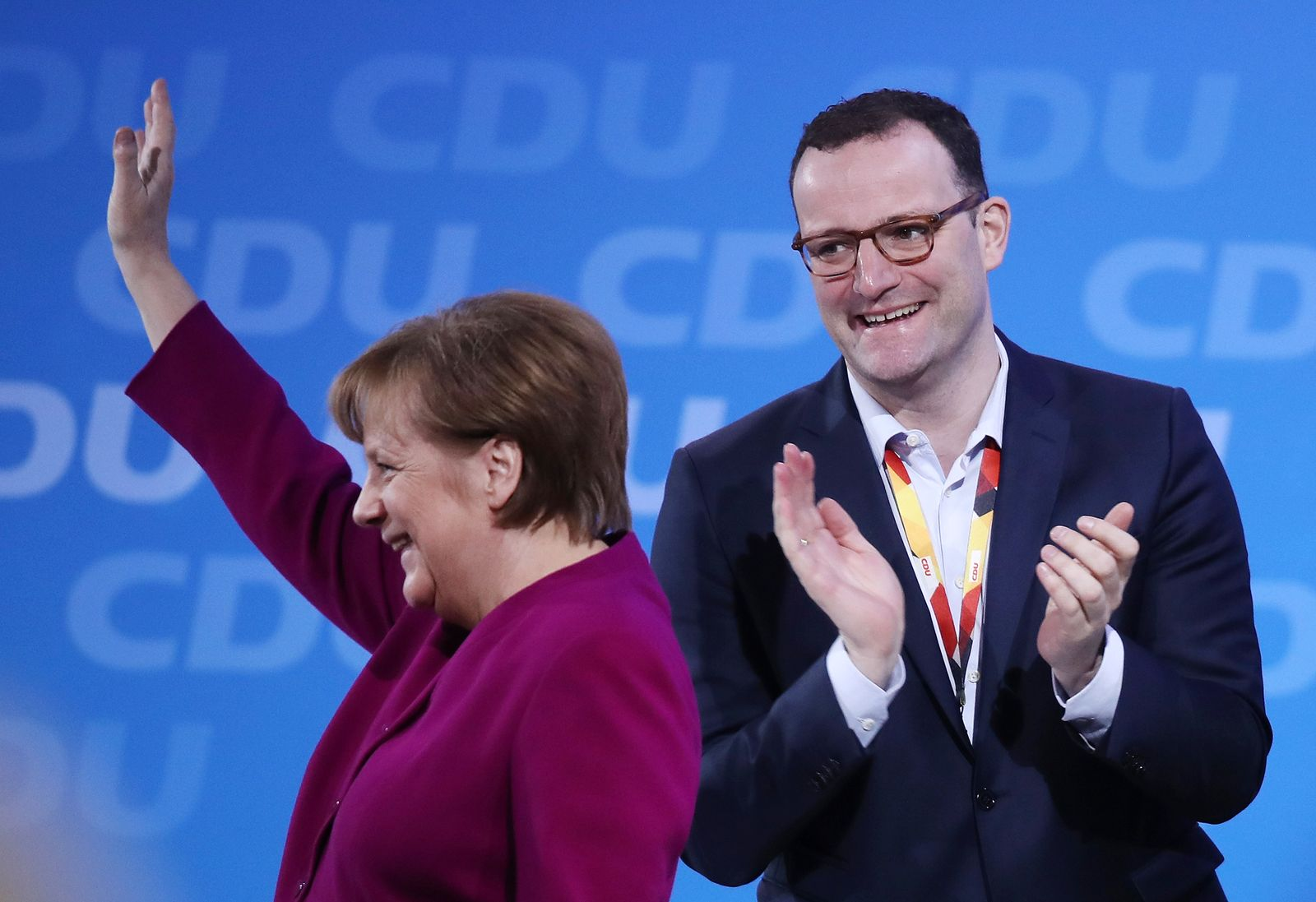 CDU/ Parteitag/ Merkel / Spahn