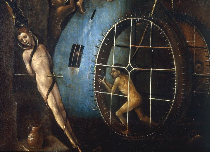 """A panel from the Hieronymus Bosch triptych """"The Last Judgement,"""" from around 1506"""