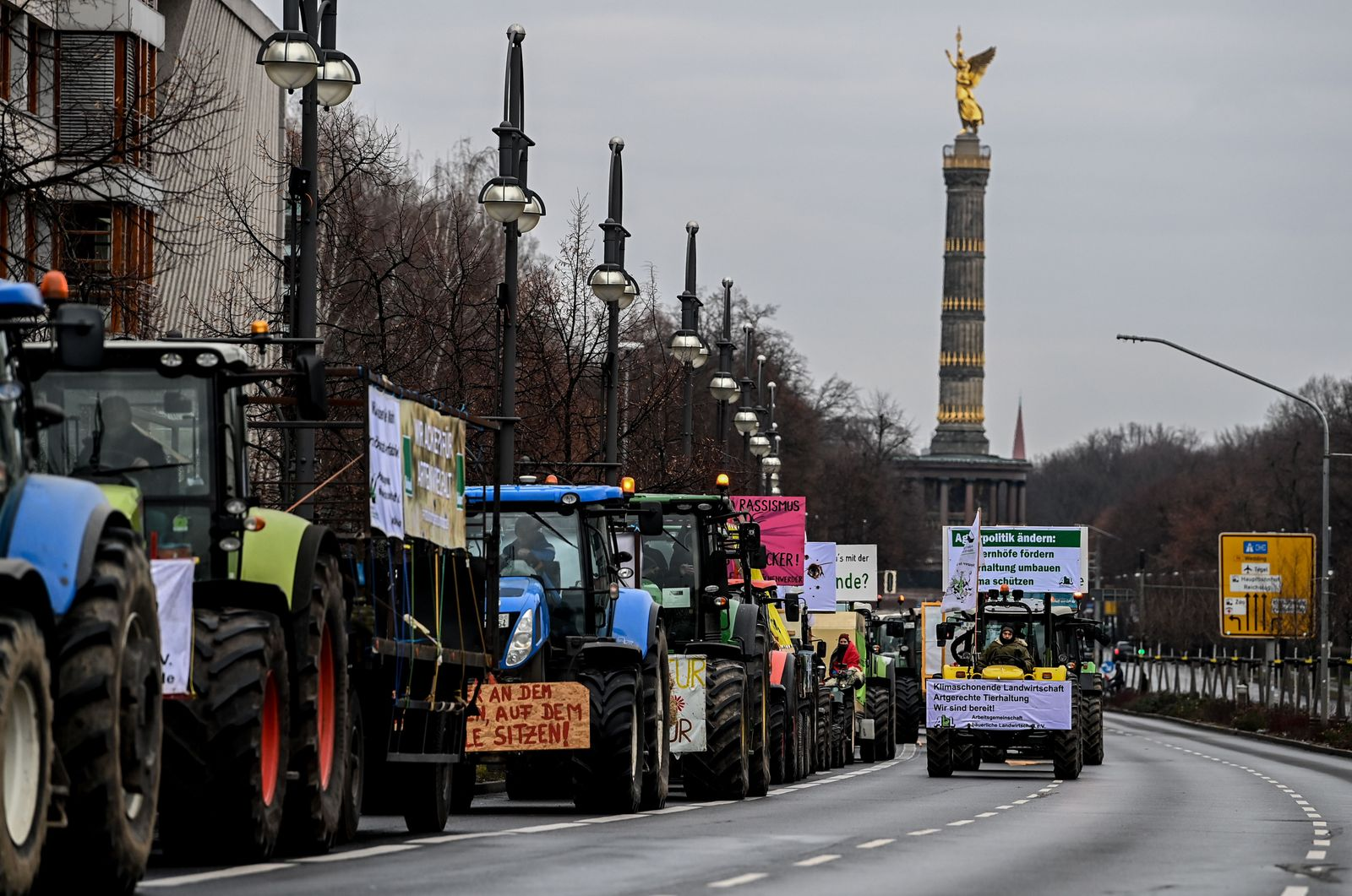 Farmers protest in Berlin, Germany - 16 Jan 2021