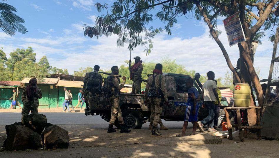 Äthiopische Truppen nahe der Grenze zur Tigray-Region