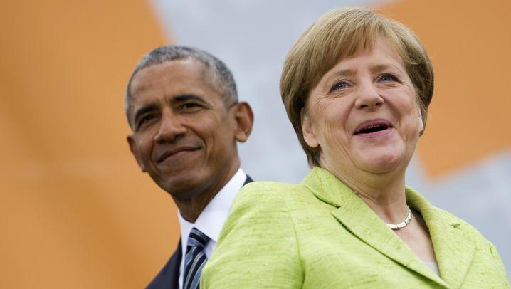 Auftritt auf dem Kirchentag: Obama und Merkel in Berlin