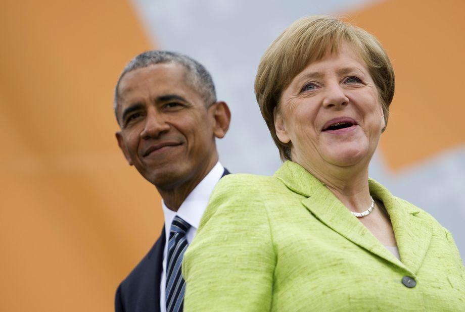 Merkel Obama Kirchentag