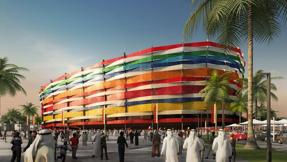 """Computersimulation des Stadions Al-Gharafa in Katar: """"Zahlreiche fehlerhafte Darstellungen"""""""