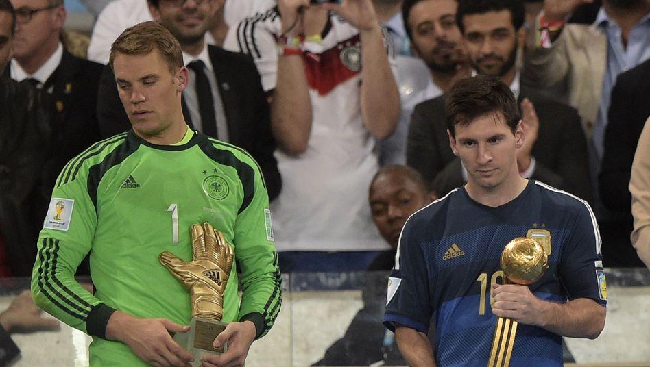 Bester Keeper Neuer, bester Spieler Messi: Ausgezeichnet von der Fifa