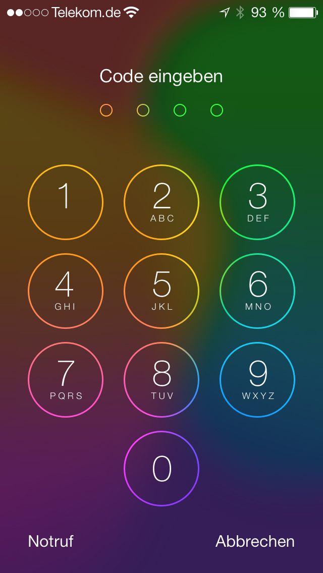 NUR ALS ZITAT Screenshot iOS 7 Sperrbildschirm