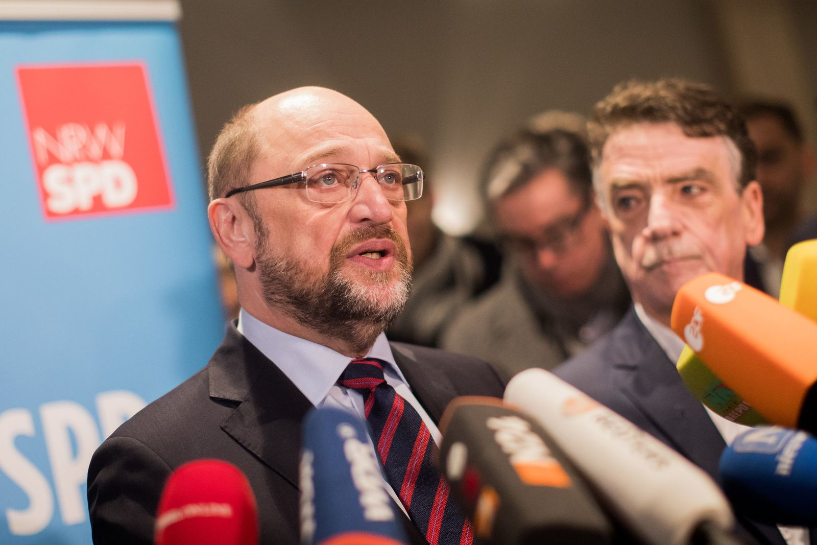 SPD-Chef Schulz in Düsseldorf