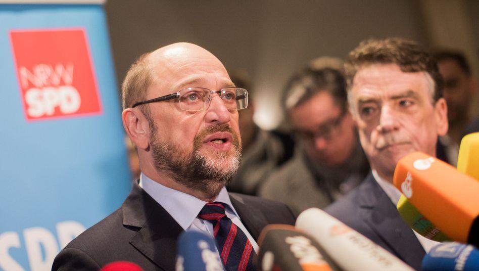 Martin Schulz auf GroKo-Werbetour