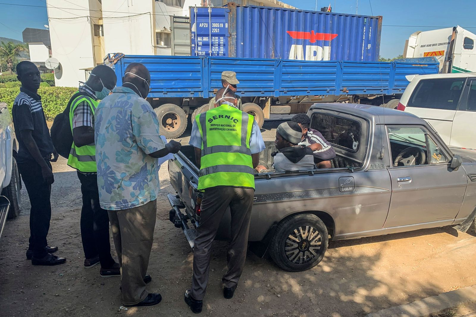 Police finds 64 dead, 14 survivors in truck container from Malawi, Maputo, Mozambique - 24 Mar 2020