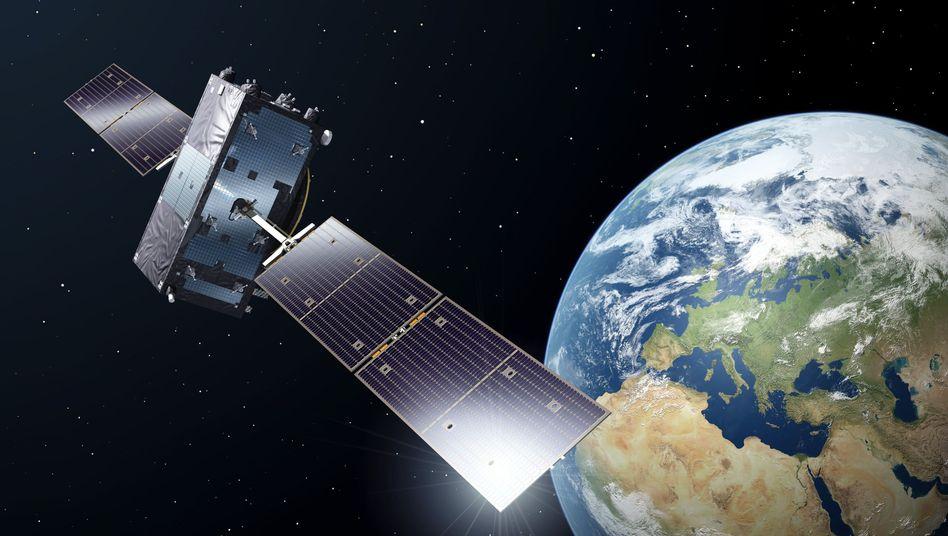 Galileo-Satellit im All (künstlerische Darstellung)