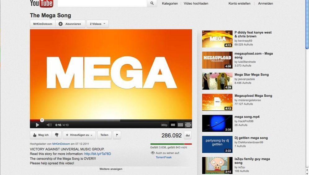 Online-Speicher: So wirbt MegaUpload