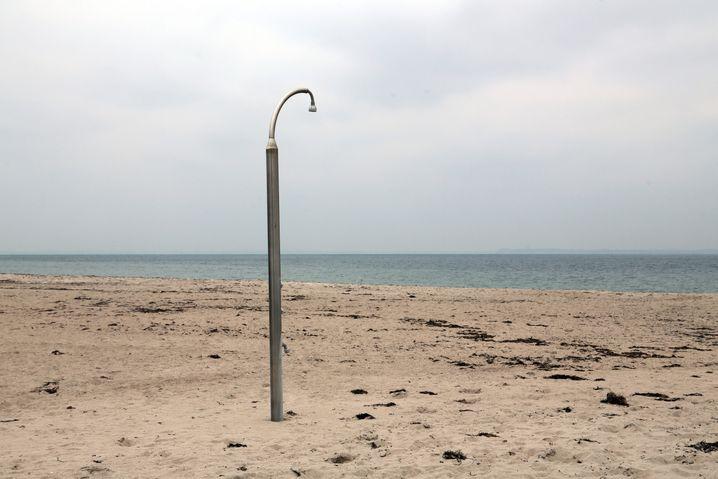 Stranddusche in Pelzerhaken: »Das hat etwas Surreales«