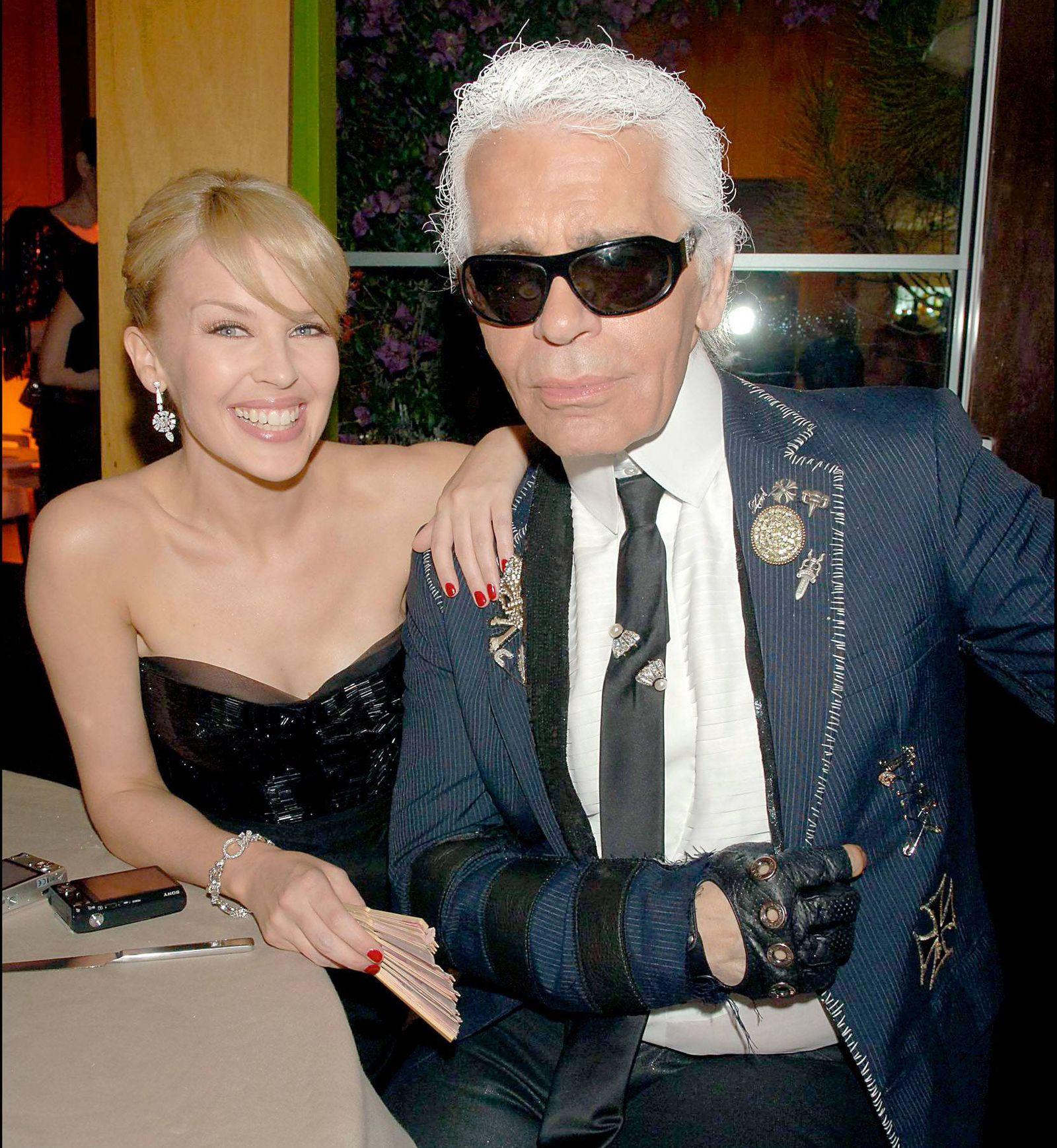 60eme Festival International du film de Cannes Soiree Chanel au Patio de canal + Kylie Minogue Ka