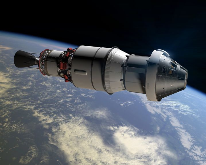 "Nasa-Raumschiff ""Orion"" (Computergrafik)"