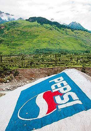 Gegengemälde des Konkurrenten Pepsi: Werbeduell im Hochgebirge?