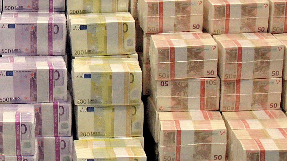 Euro-Scheine: Garantieverzinsung sinkt