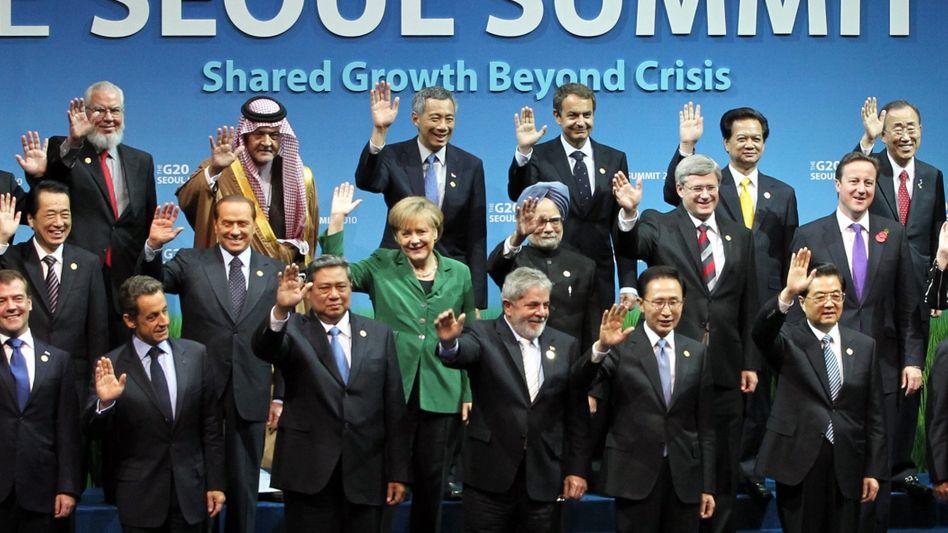 Politiker beim G20-Gipfel im Herbst 2010: Viel vorgenommen, wenig erreicht