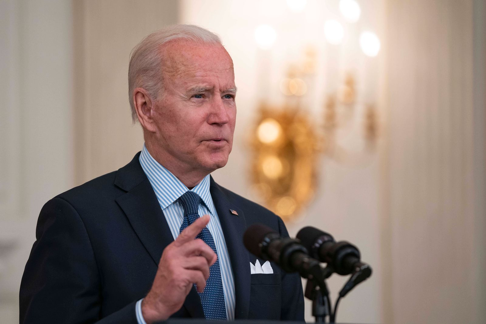 May 4, 2021, Washington, District of Columbia, USA: United States President Joe Biden delivers remarks on the Covid-19