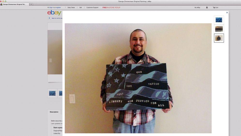 """George Zimmerman bei Ebay: """"Kreative Art, mich auszudrücken"""""""